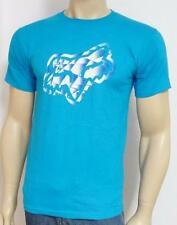 Fox Racing Crystalized Mens Turquoise Graphic 100% Cotton T-Shirt NWT Mens Small