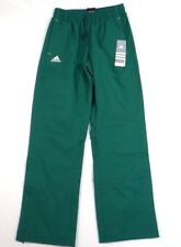 Adidas Signature Green Mesh Lined Wind Track Pants Womens NWT