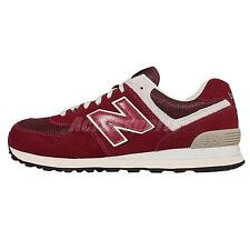 New Balance ML574FBR D Red White Suede Mens Running Shoes Sneakers ML574FBRD