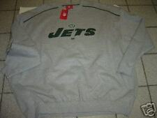 "NEW BIG MENS NFL ""NEW YORK JETS"" GREY SWEATSHIRT SIZE 3XL"