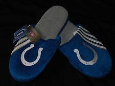 Indianapolis Colts Slippers Mens Size XL Blue Logo NFL Football Relax Shoes