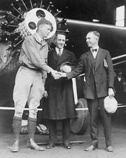 Charles Lindbergh with Richard Byrd and Clarence Chamberlin 1927 Photo Print