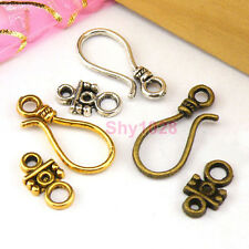 8Sets Tibetan Silver,Antiqued Gold,Bronze Hook Connector Toggle Clasps M1390