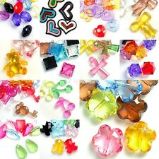 Hot Mixed Acrylic Spacer Beads Assorted Transparent Jewelry Findings