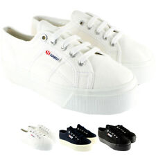 Womens Superga 2790 Canvas Plimsoll Casual Flatform Low Top Trainers UK 3.5-8.5