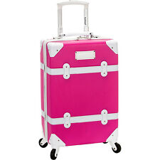 """Rockland Luggage Stage Coach 20"""" Rolling Trunk 3 Colors Hardside Luggage NEW"""