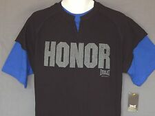 Everlast Honor Boxing Tee Shirt Mens Sizes Black MMA Gym Training Fight Workout