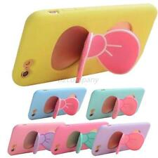 New Cute Soft Silicon Case Cover Stand Holder Skin For Iphone 4S/5/5S/6/6 Plus
