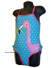 Girls  FLAMINGO  Summer/Holiday Swimming Costume/Bather  3/4 4/5 5/6 6/7 7/8 yrs