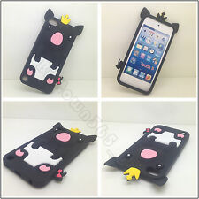 Black Soft 3D Cute Crown Pig Gel Silicone Case Cover For Ipod Touch 5 5G 6 6G