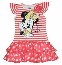 Disney Minnie Mouse Short Sleeve Tunic Shirt Dress Toddler Girl Size 3T 4T 5T