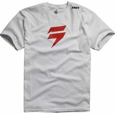 SHIFT RACING MENS BARBOLT TEE T-SHIRT motocross freestyle mx bmx mtb new WHITE