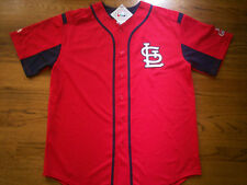 ST. LOUIS CARDINALS NEW MLB MAJESTIC DOUBLE PLAY JERSEY