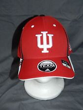 Indiana Hoosiers Adidas MENS Size L/XL Hat Red NCAA Logo Cap White New Sale