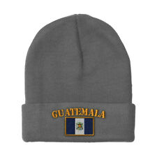 GUATEMALA FLAG Embroidery Embroidered Beanie Skull Cap Hat