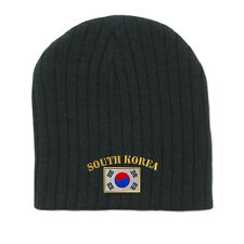 SOUTH KOREA FLAG Embroidery Embroidered Beanie Skull Cap Hat