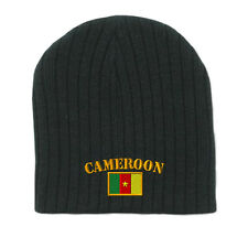 CAMEROON FLAG Embroidery Embroidered Beanie Skull Cap Hat