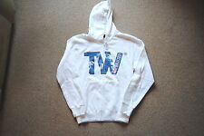 THE WANTED TW LOGO BAND WHITE HOODIE HOODED SWEATSHIRT NEW OFFICIAL BATTLEGROUND