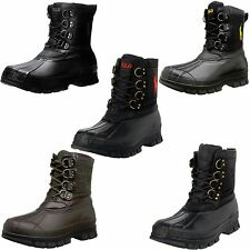 Polo Ralph Lauren Mens Crestwick Lace Up Duck Toe Waterproof Winter Ankle Boots