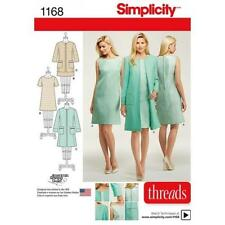 SIMPLICITY SEWING PATTERN MISSES' DRESS LINED COAT JACKET SIZES 6 - 24 1168
