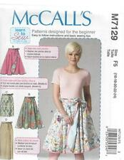 McCALL'S SEWING PATTERN MISSES' LEARN TO SEW WRAP SKIRTS SIZE 8 - 24 M7129