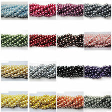 100Pcs Top Quality Czech Glass Pearl Round Beads 3/4/6/8/10/12/14mm