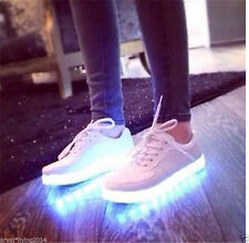 Unisex USB Charger LED Lights Lace Up Luminous Shoes Sportswear Casual Sneaker