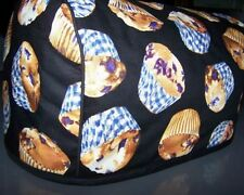 Blueberry Muffins Quilted Fabric 2-Slice or 4-Slice Toaster Cover NEW