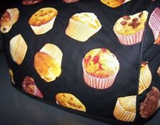 Breakfast Muffins Quilted Fabric 2-Slice or 4-Slice Toaster Cover NEW