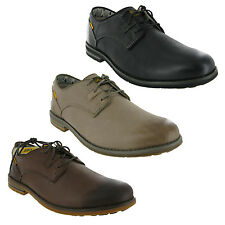 CAT Caterpillar Collins Smart Leather Casual Lace Up Mens Shoe UK6-12