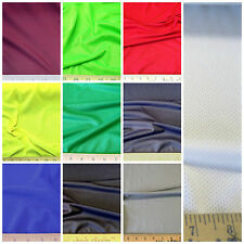 Discount Fabric Polyester Lycra /Spandex Athletic Sports Mesh Choose Your Color