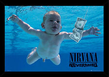 24x36 Nirvana Nevermind Poster with choice of Frame, Woodmount, or Rolled