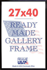 27x40 Deluxe Poster Frame Pack of 3 Frames - Black, Silver or Gold