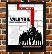 Framed Valkyrie Movie Poster A4 / A3 Size Mounted In Black / White Frame