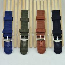 New Unisex Military Army Canva Wrist Watch Nylon Fabric Band Strap 18/20/22/24mm