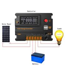 10A/20A PWM Charge Controller LCD Display Solar Panel Battery Regulator 12V 24V
