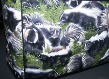 Black & White Playful Skunks Quilted Fabric 2-Slice or 4-Slice Toaster Cover NEW