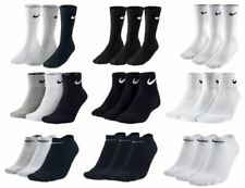 Nike 3 Pairs Mens Ladies Cushioned Ankle Crew Socks Womens Cotton Sports Running