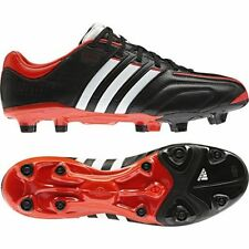 New Mens Adidas Adipure 11 Pro FG Black Red Leather Football Boots Size 6-12