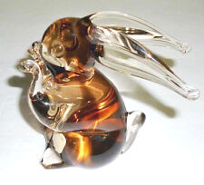 Vintage Venetian Murano Glass Rabbit Figurine Sculpture Italy SIGNED V Nason