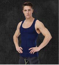 Mens Compression Muscle Tank Tight Shirt Slimming Gym Sleeveless Undershirt Hot