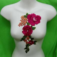 Rose Flower Floral Collar Sew Patch Cute Applique Badge Embroidered Bust Dress