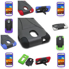 Hybrid Stand Hard Rubber Cover Case For Samsung Epic Touch 4G D710 Galaxy S 2