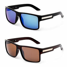 Mens Fashion Sunglasses Bold Manly Square Frame Shades Flat Top