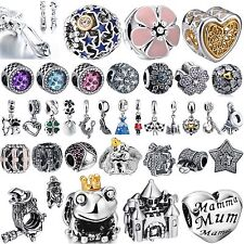New Fashion Bling Crystals Jewelry Beads 925 Silver Charms For Sterling Bracelet