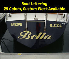 CUSTOM WINDSHIELD TEXT LETTERING VINYL DECAL STICKER BUSINESS BOAT SIGN NAME