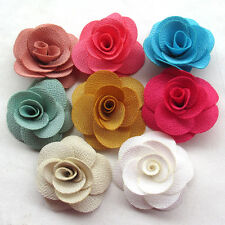 Large 6CM 8/40PCS Ribbon Flowers Bows Appliques Craft Wedding Deco Mix A503