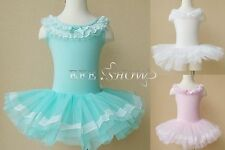 Child Kids Girl Dance Leotard Lace Sleeveless Ballet Dress Gymnastics Tutu Skirt