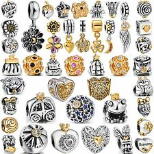 Golden Bead Popular Women 925 Silver Charms For 2016 Sterling Bracelets Bangle
