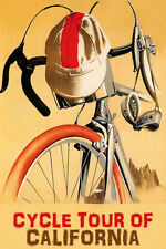 BICYCLE CYCLE TOUR OF CALIFORNIA CYCLING BIKE RIDE USA VINTAGE POSTER REPRO